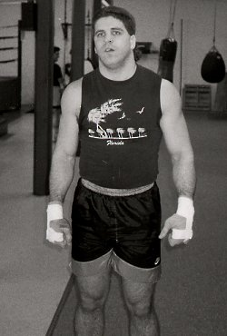 PETER McNEELEY TRAINING AT THE SOUTH SHORE BOXING CLUB - CLICK HERE TO ZOOM IN